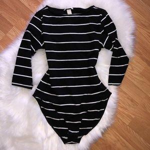 H&M Basics Black Jersey Bodysuit